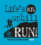 Life's an Uphill RUN 5k registration logo
