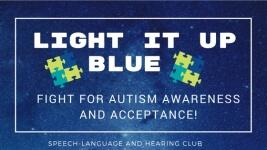 Light It Up Blue 5k for Autism Awareness registration logo