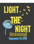 Light The Night For Recovery registration logo