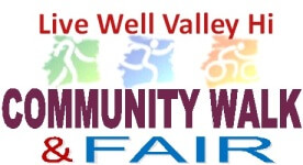 Live Well Valley Hi Community Walk & Fair registration logo