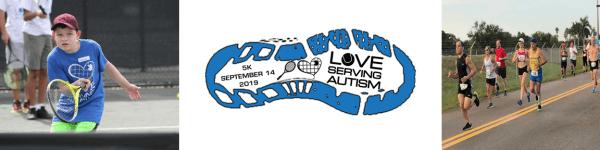 Love Serving Autism Family 5K registration logo