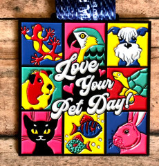Love Your Pet Day 1M 5K 10K 13.1 26.2 registration logo