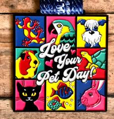 Love Your Pet Day 1M 5K 10K 13.1 26.2 registration logo
