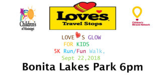 Loves Glow Run For Kids registration logo
