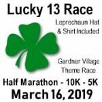 Lucky 13 Half Marathon - 10K - 5K registration logo