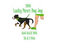 Lucky Pawz Dog Jog registration logo