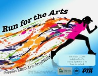 LUSD 19th Annual Run for the Arts registration logo