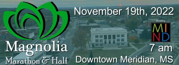 Magnolia Marathon & Half registration logo