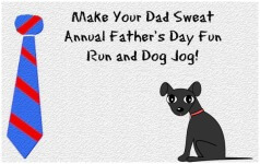 Make Your Dad Sweat Annual Fun Run and Dog Jog registration logo