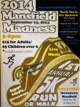 Mansfield Madness 5K registration logo