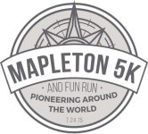 Mapleton 24th of July 5k and 1M registration logo
