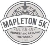 Mapleton 24th of July 5k and 1M registration logo