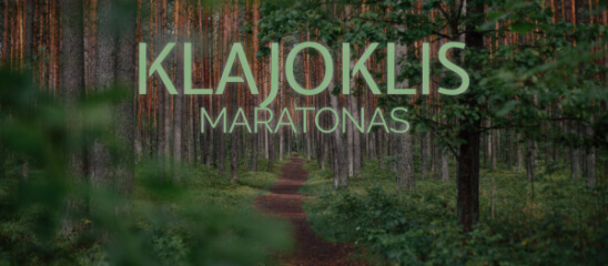 maratonas KLAJOKLIS - 5 registration logo