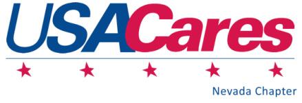 USA Cares The Heroes Hike registration logo