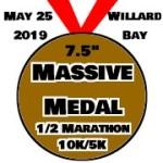 Massive Medal 1/2 Marathon at Willard Bay registration logo