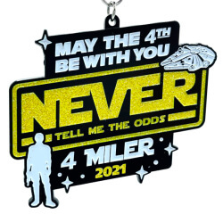 May the 4th Be With You - 4 Miler registration logo