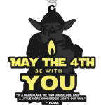 May the 4th Be With You - 4 Miles registration logo