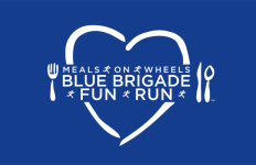 Meals on Wheels Blue Brigade Fun Run registration logo