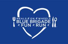Meals on Wheels Blue Brigade Fun Run registration logo
