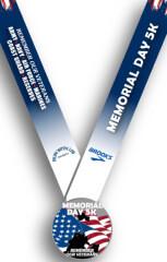 Memorial Day 5k virtual run registration logo