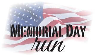 Memorial Day Run registration logo