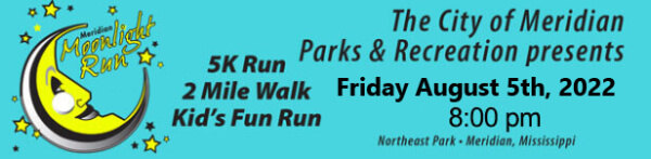 Meridian Moonlight Run registration logo
