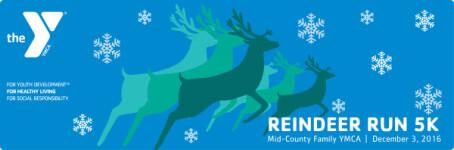 Mid-County YMCA 5K Reindeer Run registration logo