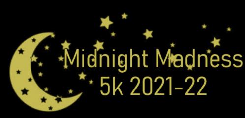 Midnight Madness 5k registration logo