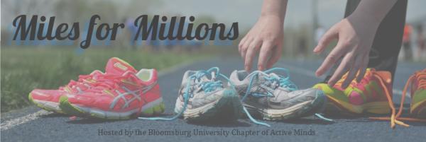 Miles for Millions - Mental Health Awareness registration logo