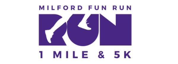 Milford Fun Run registration logo
