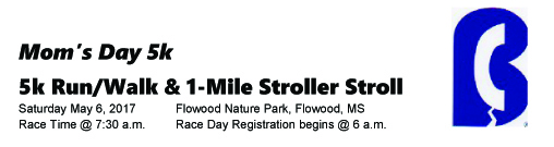 Mom's Day 5K registration logo