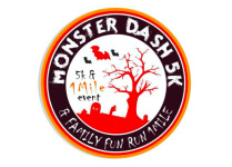 Monster Dash 5K & 1 Mile Family Fun Run registration logo