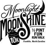 Moonlight Moonshine 10K registration logo