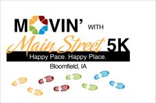 Movin' with Main Street 5K registration logo