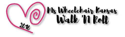 Ms Wheelchair Kansas Walk 'N Roll registration logo