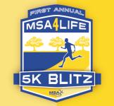 MSA 4 Life 5k Blitz 10,000 registration logo