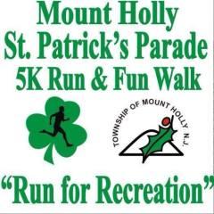 Mt Holly St. Patrick 5K, Family Fun Walk, and 1 Mile Kids Run registration logo