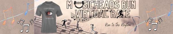 Musicheads Run Virtual Race registration logo
