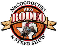 Nacogdoches Pro Rodeo and Steer Show registration logo