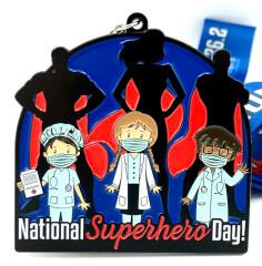 National Superhero Day 1M 5K 10K 13.1 26.2 registration logo