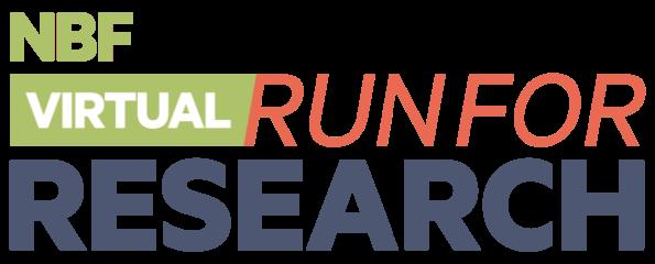 NBF VIRTUAL Run for Research registration logo