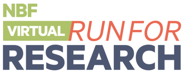 NBF VIRTUAL Run for Research registration logo