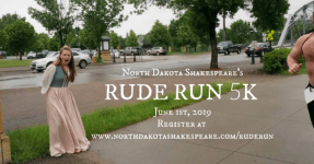ND Shakespeare's RUDE RUN registration logo