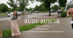 ND Shakespeare's RUDE RUN registration logo
