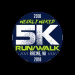 Nearly Naked 5K Run/Walk - Racine, WI registration logo