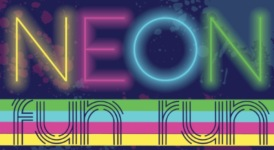 Neon Fun Run/Walk registration logo