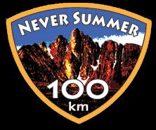 Never Summer 100k registration logo