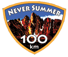 Never Summer 100k registration logo