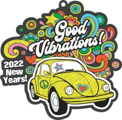 New Years-Good Vibrations 1M 5K 10K 13.1 26.2 registration logo