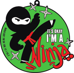 Ninja Day 1M 5K 10K 13.1 26.2 registration logo